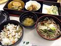 信州野沢菜センターでの昼食