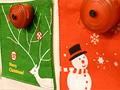 クリスマス柄コースター
