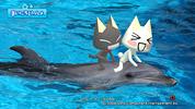 イルカに乗ったトロ&クロ